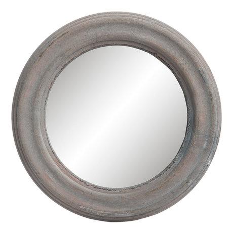Spiegel ø 22*2 cm Grijs   62S121   Clayre & Eef