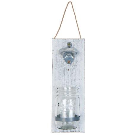 Flessenopener 11*7*32 cm / 0.35 L Wit | 63367 | Clayre & Eef