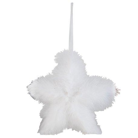Hanger ster 21*3*21 cm Wit | 63387 | Clayre & Eef