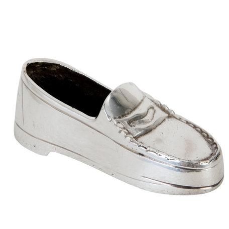 Decoratie schoen 12*4*4 cm Zilverkleurig | 63546 | Clayre & Eef