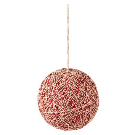 Kerstbal ø 12*12 cm Rood | 63999 | Clayre & Eef