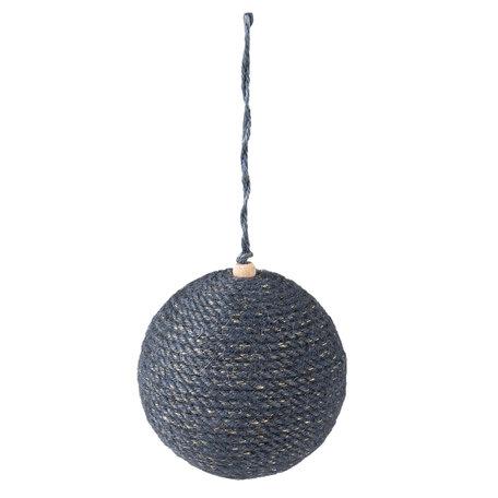 2 STUKS Kerstbal ø 9*10 cm Blauw | 64000 | Clayre & Eef