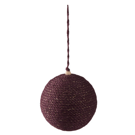 Kerstbal ø 9*10 cm Paars | 64003 | Clayre & Eef