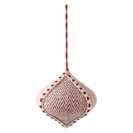 Decoratie hanger ø 12*11 cm Rood | 64011 | Clayre & Eef