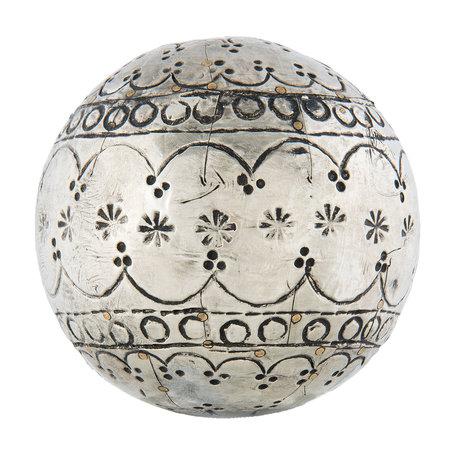 Decoratie bal ø 10*10 cm Zilverkleurig | 64015 | Clayre & Eef