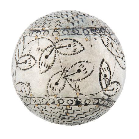 Decoratie bal ø 10*10 cm Zilverkleurig | 64016 | Clayre & Eef