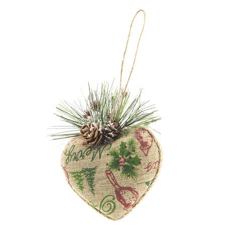 2 STUKS Kerstbal 9*5*10 cm Meerkleurig | 64035 | Clayre & Eef