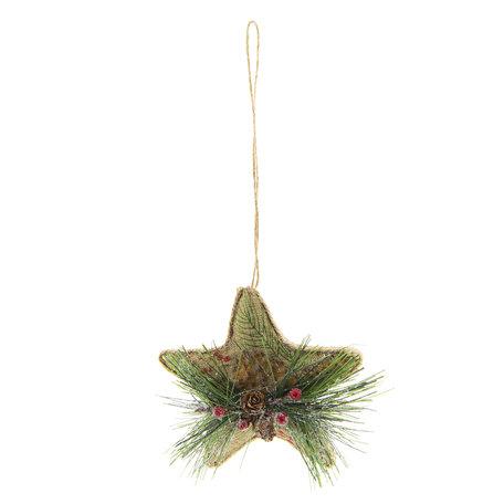 2 STUKS Kerstbal 11*6*11 cm Meerkleurig | 64037 | Clayre & Eef