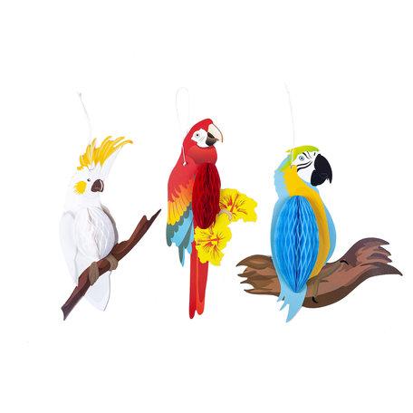 2 STUKS Decoratie hanger 24*9 cm Meerkleurig | 64110 | Clayre & Eef