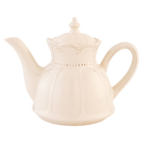 Theepot 14*23*17 cm / 0.9L Creme | 6CE0264 | Clayre & Eef