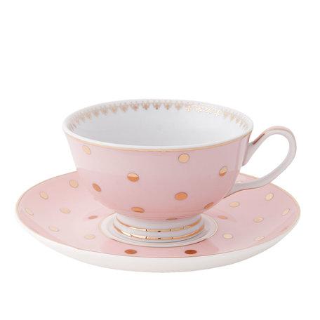 Kop en schotel ø 15*8 cm / 0.12L Pink | 6CE0651 | Clayre & Eef