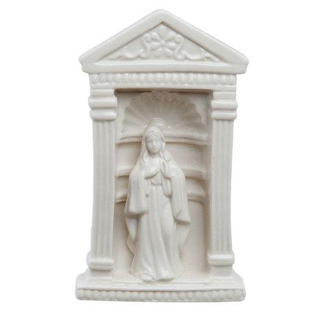 Decoratie beeld Maria 11*7*18 cm Wit | 6CE0754 | Clayre & Eef
