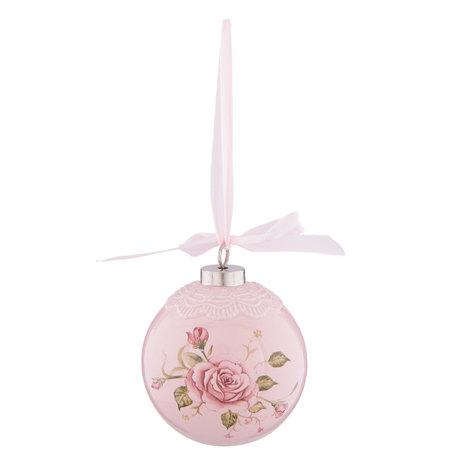 Kerstbal ø 8*9 cm Pink | 6CE0830 | Clayre & Eef