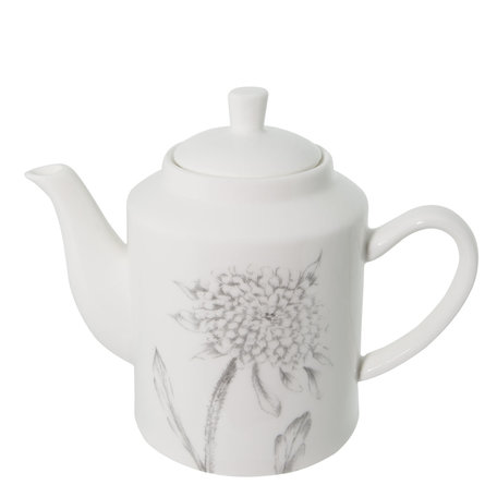 Theepot 19*10*14 cm Wit | 6CE0862 | Clayre & Eef