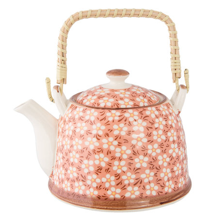 Theepot 18*14*12 cm / 0.7L Pink | 6CETE0006 | Clayre & Eef