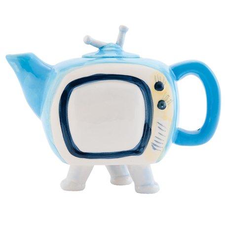 Theepot tv 18*8*14 cm / 0.5 L Blauw | 6CETE0048 | Clayre & Eef