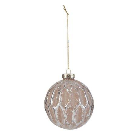 2 STUKS Kerstbal ø 7 cm Zilverkleurig | 6GL1591 | Clayre & Eef