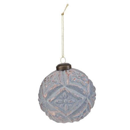 2 STUKS Kerstbal ø 8 cm Grijs | 6GL1594 | Clayre & Eef