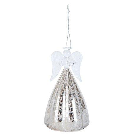 Decoratie hanger engel ø 7*12 cm Transparant | 6GL1610 | Clayre & Eef