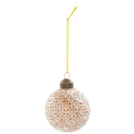 Kerstbal ( set 4) ø 6*6 cm ( set 4 ) Grijs | 6GL2054 | Clayre & Eef