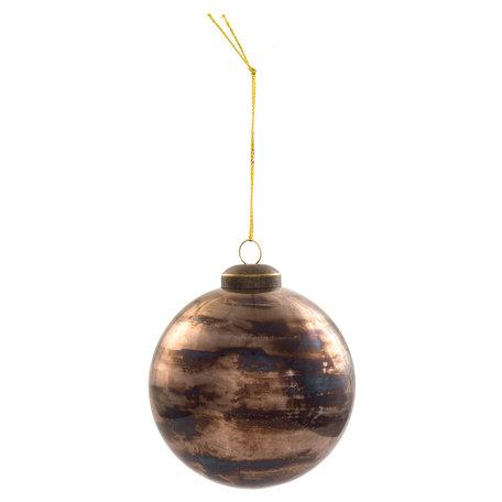 Kerstbal ( set 4) ø 8*8 cm ( set 4 ) Grijs | 6GL2064 | Clayre & Eef