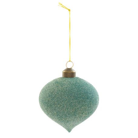 Kerstbal ( set van 4) ø 8*8 cm ( set 4 ) Groen | 6GL2083 | Clayre & Eef