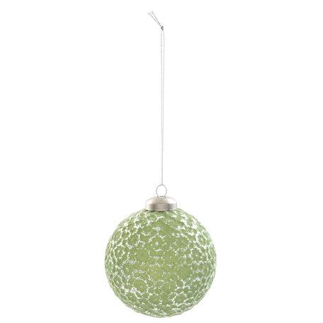 Kerstbal ( set 4) ø 8*8 cm ( set 4 ) Groen | 6GL2089 | Clayre & Eef