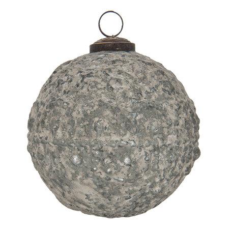 2 STUKS Kerstbal ø 12 cm Grijs | 6GL2122 | Clayre & Eef