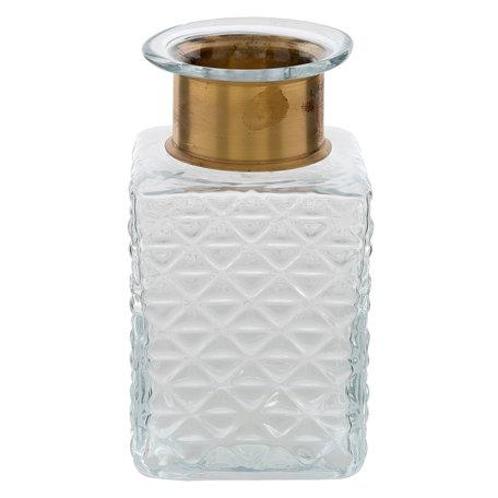 Fles / Vaas 10*10*18 cm Transparant | 6GL2158 | Clayre & Eef