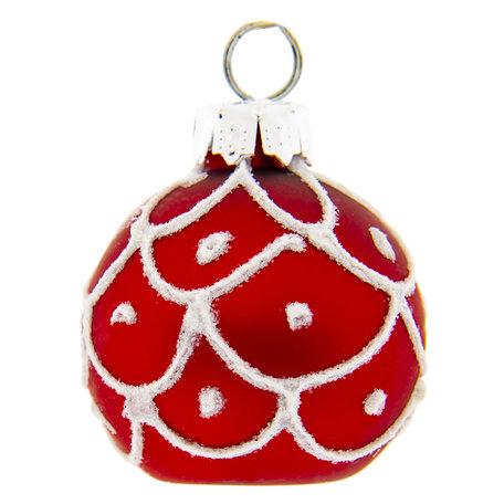 Kerstbal (set van 6) ø 10 cm Rood | 6GL2262R | Clayre & Eef