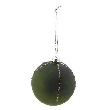 Kerstbal (set 4) ø 8 cm Groen | 6GL2266GR | Clayre & Eef
