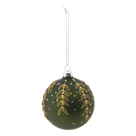 Kerstbal ø 8 cm Groen | 6GL2267GR | Clayre & Eef