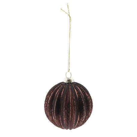 Kerstbal (set 4) ø 8 cm Creme | 6GL2270A | Clayre & Eef