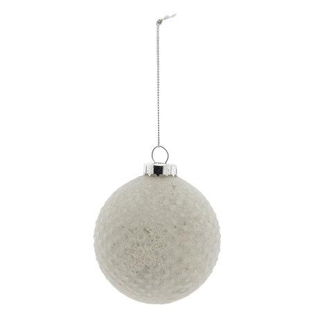 Kerstbal (set 4) ø 8 cm Wit | 6GL2274W | Clayre & Eef