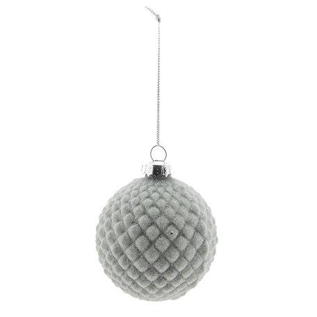 Kerstbal (set 4) ø 8 cm Bruin | 6GL2275B | Clayre & Eef