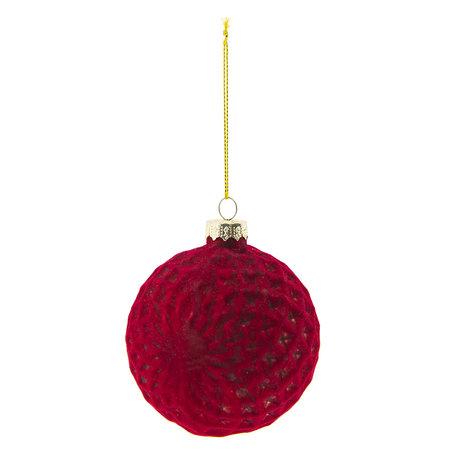 Kerstbal (set 4) ø 8 cm Rood | 6GL2280R | Clayre & Eef