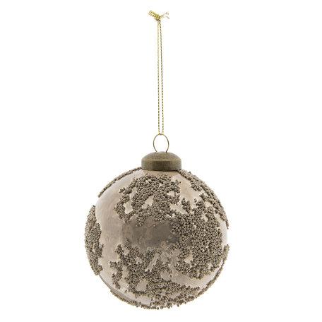 Kerstbal (set 4) ø 8 cm Oranje | 6GL2285O | Clayre & Eef