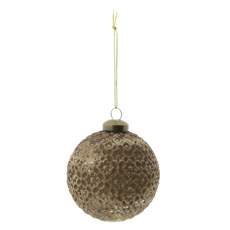 Kerstbal (set 4) ø 8 cm Goudkleurig | 6GL2286GO | Clayre & Eef