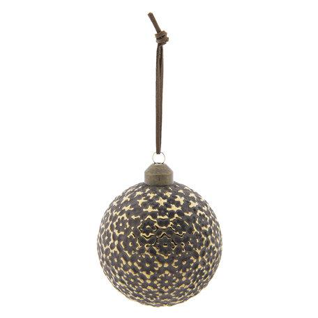Kerstbal (set 4) ø 8 cm Bruin | 6GL2287B | Clayre & Eef
