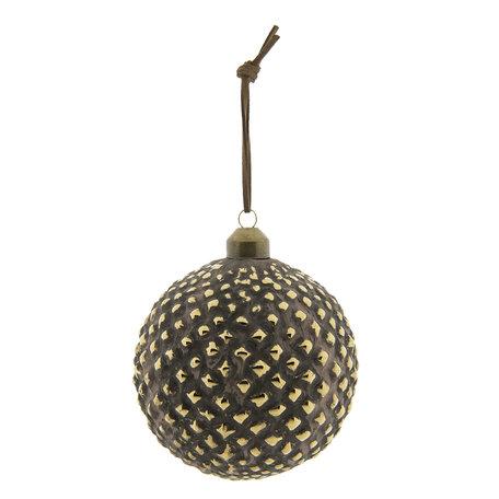 Kerstbal (set van 2) ø 10 cm Bruin | 6GL2288B | Clayre & Eef