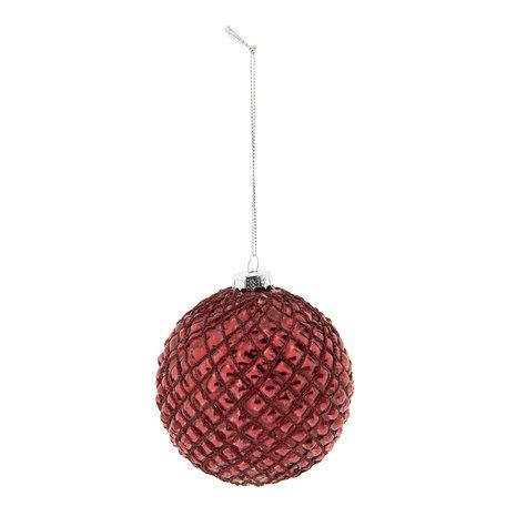 Kerstbal (set van 2) ø 10 cm Rood | 6GL2289R | Clayre & Eef