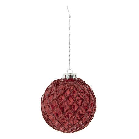 Kerstbal (set van 2) ø 10 cm Rood | 6GL2290R | Clayre & Eef