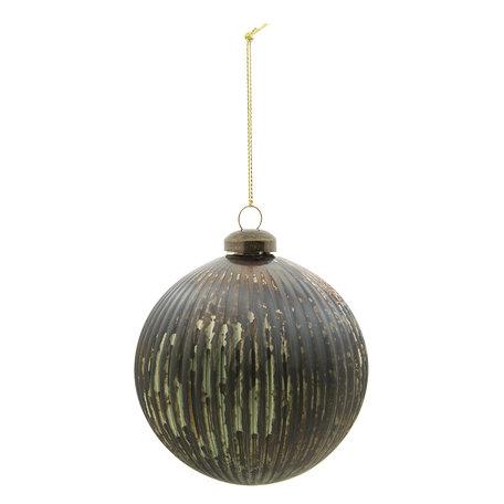 Kerstbal (set van 2) ø 10 cm Groen | 6GL2292GR | Clayre & Eef