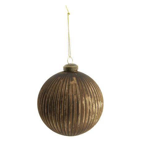 Kerstbal (set van 2) ø 10 cm Goudkleurig | 6GL2293B | Clayre & Eef