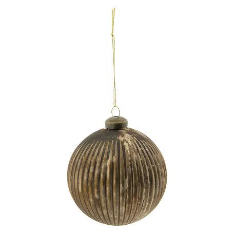 Kerstbal (set van 2) ø 10 cm Bruin | 6GL2294B | Clayre & Eef