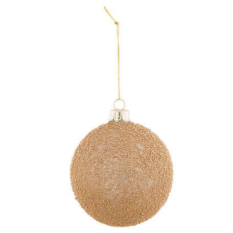 2 STUKS Kerstbal ø 8*9 cm Bruin | 6GL2307B | Clayre & Eef