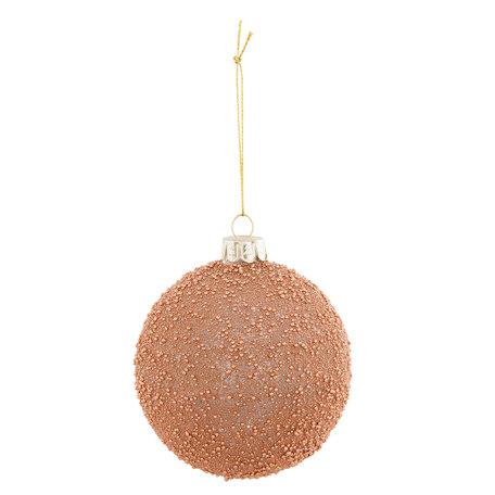 2 STUKS Kerstbal ø 8*9 cm Bruin | 6GL2309B | Clayre & Eef