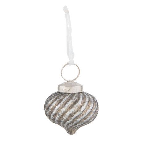 Kerstbal ø 5*5 cm Zilverkleurig | 6GL2321 | Clayre & Eef