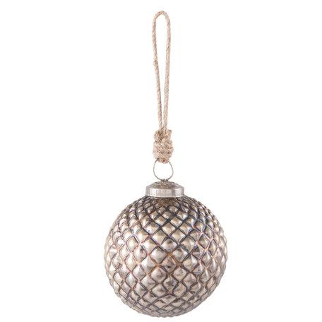 Kerstbal ø 9*10 cm Goudkleurig | 6GL2328 | Clayre & Eef