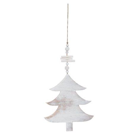 Decoratie hanger 17*40 cm Wit | 6H1046L | Clayre & Eef